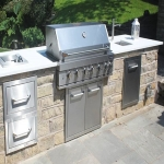 Outdoor Kitchen Plans in White Stake 5