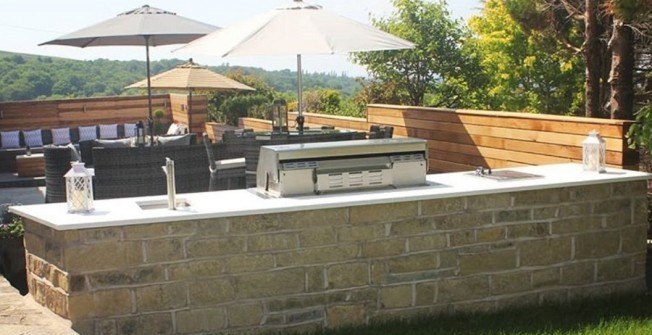 Brick Outdoor Kitchens in Aston juxta Mondrum